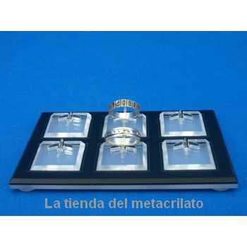 Expositor anillos 6 unidades con bases BI 800