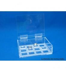 Expositor anillos caja transparente PVL