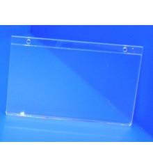 Expositor porta cartel para colgar o pegar PLV