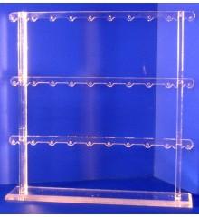 Expositor pendientes 3 alturas 15 pares