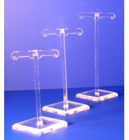 Expositor pendientes postes set de 3 alturas