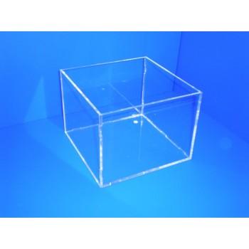 Caja transparente sin tapa