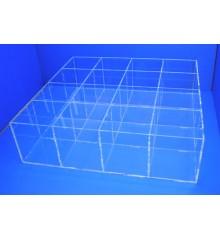 Caja 16 huecos de 100 x 100 mm Transparente