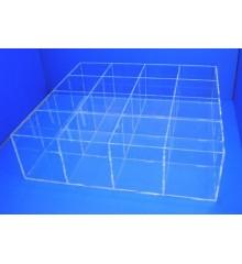 Caja 16 huecos  100mm x 100mm sin tapa