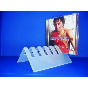 Expositor para CDs para 6 CD en L