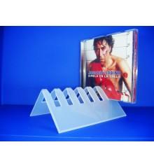 Expositor para CDs para 6 CD en L con tope
