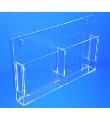 Expositor para folletos A-6 horizontal doble cuartilla PLV