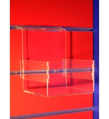 Expositor lama caja frontal de 80mm pieza 140x125x160mm