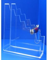Expositor para 6 navajas pequeñas cerradas en cascada