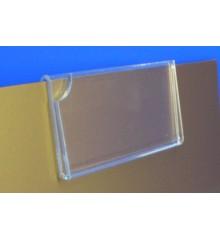 Expositor porta cartel uñero para pletina 1.2 mm PLV