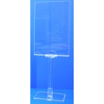 Expositor porta cartel 120mm x 180mm  tubo sobremesa PLV
