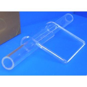 Expositor porta precios doblado para barra cuadrada 16 mm PLV