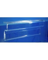 Expositor porta cartel sujecion a balda de 19 mm PLV