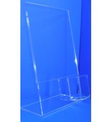 Expositor porta cartel vertical caja mando TV PLV