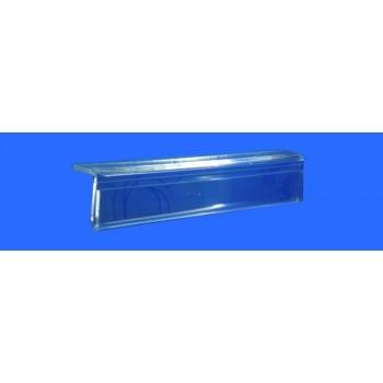 Expositor porta cartel horizontal apoyo en balda 100 mm PLV