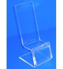 Expositor para PDA tipo silla con porta cartel 100mm x 42mm