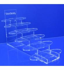 Expositor repisa escalera 6 baldas oval 150mm x 55mm
