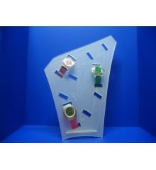 Expositor para 6 relojes de correa con hebilla