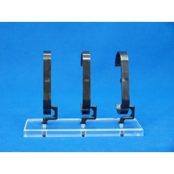 Expositor para relojes 3 unidades sobre base 10mm
